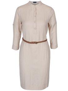 Béžové šaty s dlouhým rukávem Pretty Girl