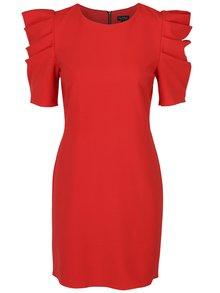 Rochie roșie cu umeri bufanți - Miss Selfridge