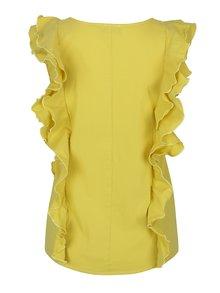 Žlutá halenka bez rukávů s volány Pretty Girl