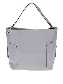 Sivá kabelka s aplikáciou v zlatej farbe Miss Selfridge