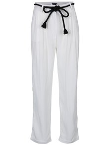 Biele voľné nohavice Pretty Girl