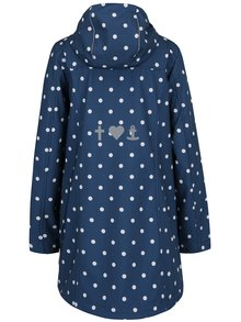 Tmavě modrý nepromokavý puntíkovaný kabát Blutsgeschwister