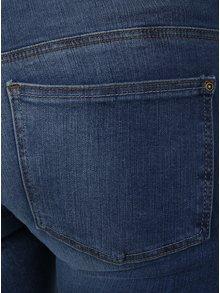 Modré skinny džíny s nízkým pasem a vyšisovaným efektem ONLY Coral