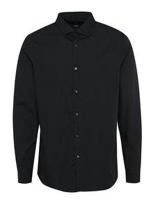 Cămașă office neagră cu mâneci lungi Burton Menswear London