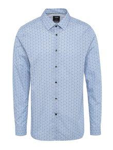 Modrá vzorovaná formální skinny fit košile Burton Menswear London
