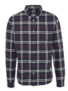 Tmavomodrá károvaná košeľa Burton Menswear London