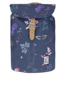 Tmavomodrý batoh so vzorom listov The Pack Society 10 l