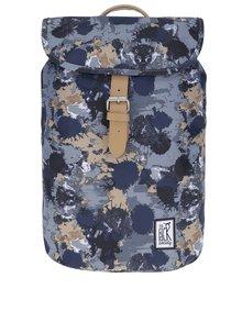 Sivo-modrý maskáčkový batoh The Pack Society 10 l