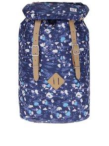 Tmavomodrý vzorovaný batoh The Pack Society 23 l
