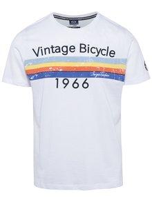 Bílé pánské slim fit tričko s potiskem Sergio Tacchini Valten