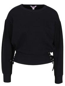 Pulover negru cu talie evidențiată - Miss Selfridge petites
