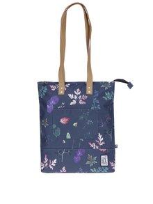 Tmavě modrá taška se vzorem listů The Pack Society