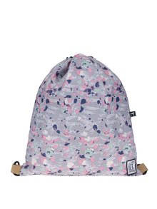Rucsac gri cu print multicolor The Pack Society