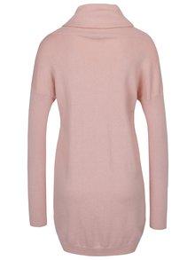 Rochie- pulover roz tricotata cu guler inalt Dorothy Perkins