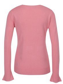 Ružový sveter so zvonovými rukávmi Dorothy Perkins