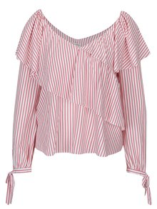 Bluză cu dungi crem & roz - Miss Selfridge