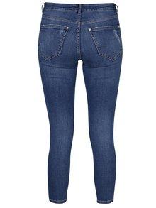 Modré skinny džíny s vysokým pasem Miss Selfridge Petites