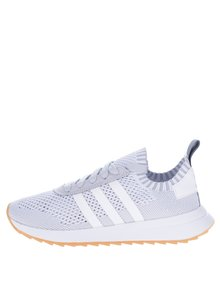 Pantofi sport alb&gri de damă - adidas Originals Flashback