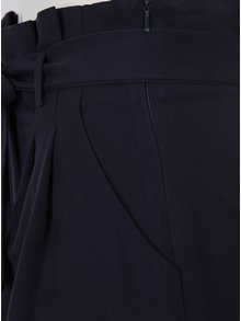 Pantaloni scurti bleumarin cu cordon in talie - Miss Selfridge Petites