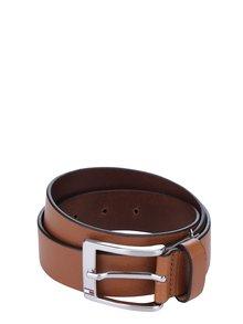 Hnědý pánský kožený pásek Tommy Hilfiger New Aly