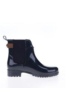 Tmavě modré dámské gumové chelsea boty s koženými detaily Tommy Hilfiger Oxley