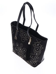 Geantă shopper neagră cu ținte decorative aurii -  Miss Selfridge