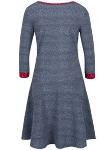 Sivomodré melírované mikinové šaty Blutsgeschwister