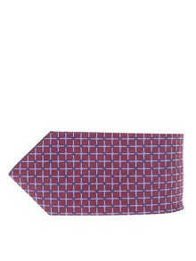 Cravată vișinie cu model albastru Burton Menswear London
