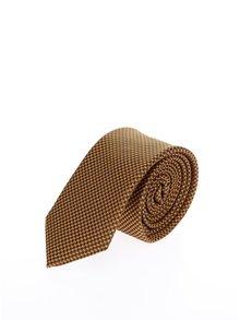 Žlutá vzorovaná kravata Burton Menswear London