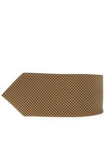 Cravată galbenă cu model Burton Menswear London