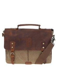 Hnědo-béžová kožená taška Urban Bag
