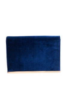 Plic bleumarin din catifea cu baretă detașabilă din lanț Dorothy Perkins