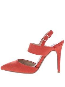Sandale roșii cu toc și călcâi decupat Dorothy Perkins