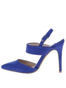 Modré sandálky v semišovej úprave na ihlovom podpätku Dorothy Perkins
