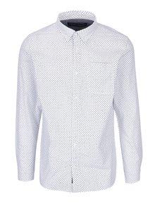 Biela vzorovaná košeľa Jack & Jones Premium Classic