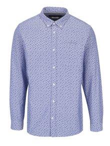 Modrá vzorovaná košile Jack & Jones Premium Classic