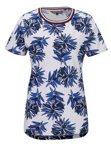 Modro-sivé dámske kvetované tričko Tommy Hilfiger Canny