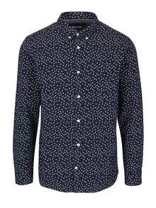Tmavomodrá vzorovaná košeľa Jack & Jones Premium Classic