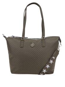 Zelená kabelka s jemným vzorem Tommy Hilfiger Poppy Quilted