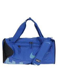 Čierno-modrá športová vodovzdorná taška s potlačou Nike Alpha 37 l