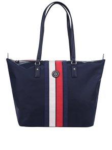 Tmavomodrá kabelka s pruhmi Tommy Hilfiger Poppy Stripe