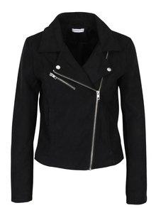 Jachetă scurtă neagră cu revere și capse - Jacqueline de Yong Penny