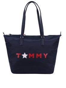 Tmavomodrá kabelka s potlačou Tommy Hilfiger Tommy Star