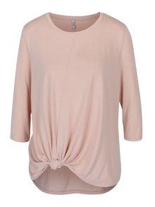 Bluză roz deschis cu nod decorativ - ONLY Miley