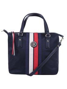 Tmavě modrá kabelka s pruhy Tommy Hilfiger Poppy Small Stripe