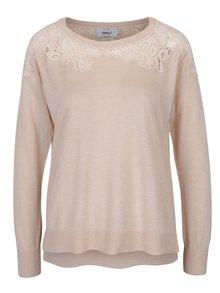 Meruňkový svetr s krajkovými detaily ONLY Maia