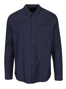 Tmavě modrá košile s černými knoflíky Burton Menswear London