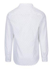 Krémová vzorovaná košeľa s náprsným vreckom Burton Menswear London