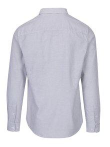 Krémovo-sivá pruhovaná košeľa Burton Menswear London