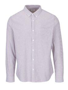 Krémovo-hnedá pruhovaná košeľa Burton Menswear London